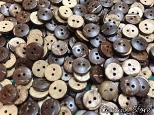 Kit 50 botões Coco natural
