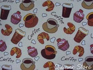 Tecido 100% Algodão COFFE