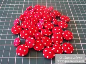 Kit 40 Botões Poás Vermelho